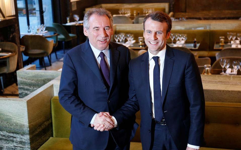 Καταρχήν συμφωνία Μπαϊρού - Μακρόν για τους υποψήφιους στις βουλευτικές εκλογές