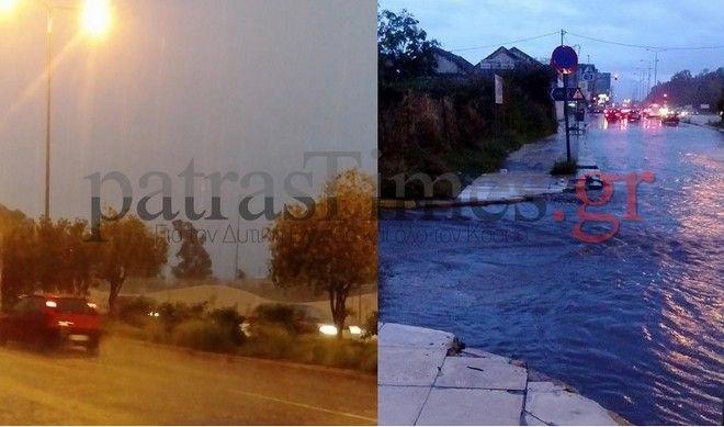 Αχαϊα:Τα πήρε και τα…σήκωσε-Πλημμύρες,πτώσεις δέντρων, ζημιές από την κακοκαιρία