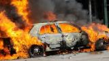 Ναυπακτία: Στάχτη δύο αυτοκίνητα