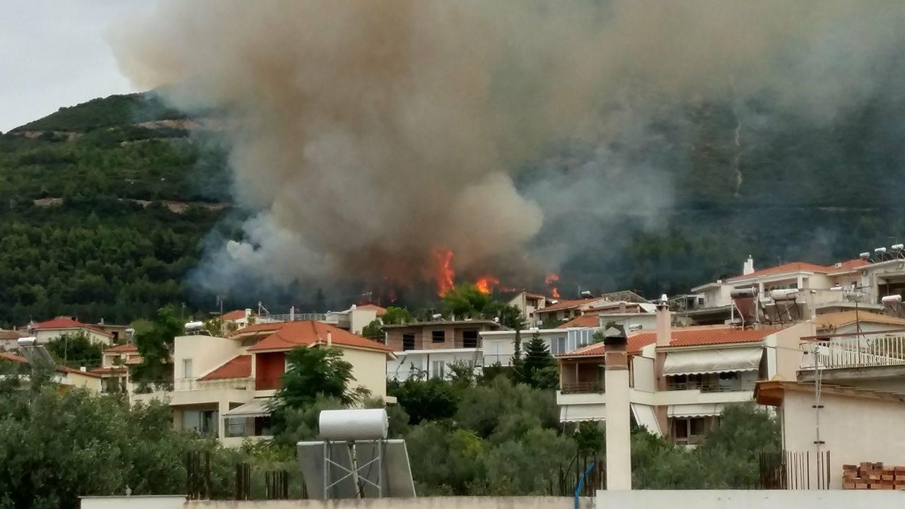 Πάτρα: Μεγάλη φωτιά στον Ομπλό - Απειλήθηκαν σπίτια
