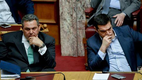 Συνεχίζονται οι τριγμοί στον ΣΥΡΙΖΑ λόγω Καμμένου
