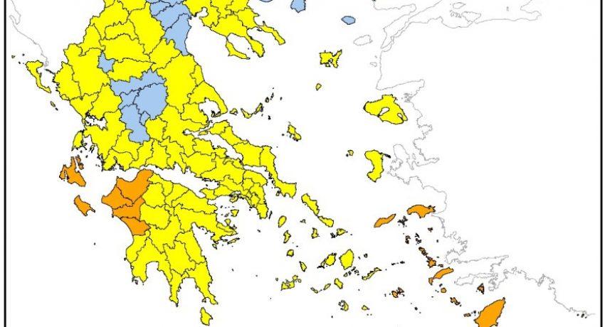 Περιφέρεια Δυτ. Ελλάδας: Πολύ υψηλός κίνδυνος πυρκαγιάς σε Αχαΐα και Ηλεία